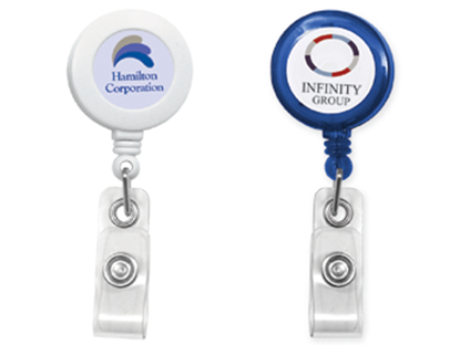 printed badge reel