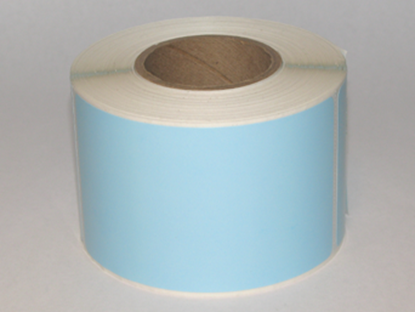 "Thermal Visitor Labels 2 1/4"" x 4"" Blue"