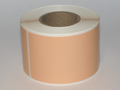 "Thermal Visitor Labels 2 1/4"" x 4"" Peach"